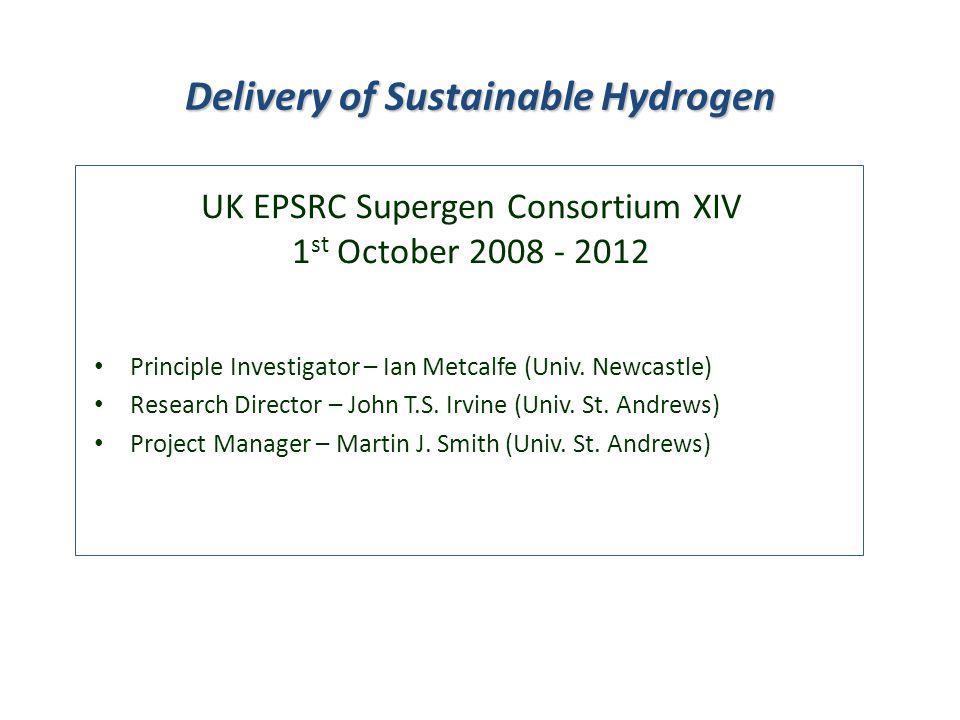 Principle Investigator – Ian Metcalfe (Univ.Newcastle) Research Director – John T.S.