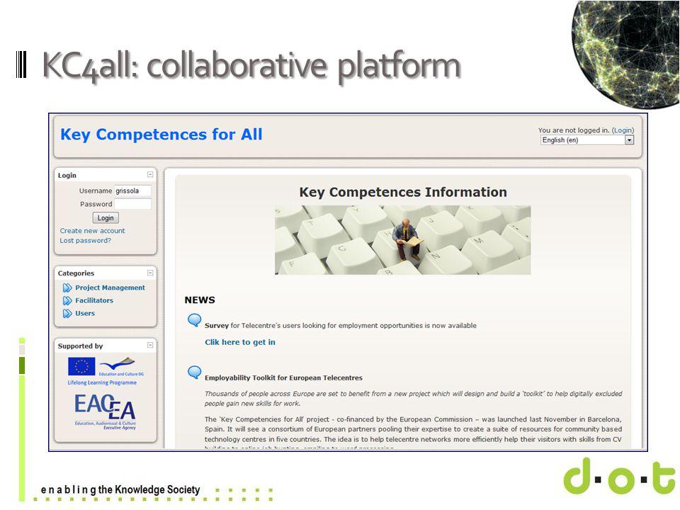 www.d–o–t.eu KC4all: collaborative platform