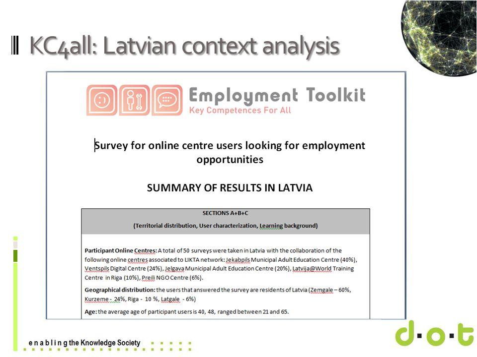 www.d–o–t.eu KC4all: Latvian context analysis