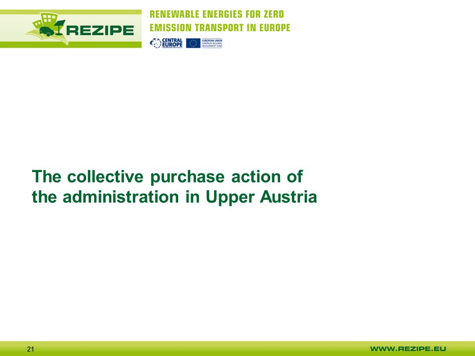21 The collective purchase action of the administration in Upper Austria