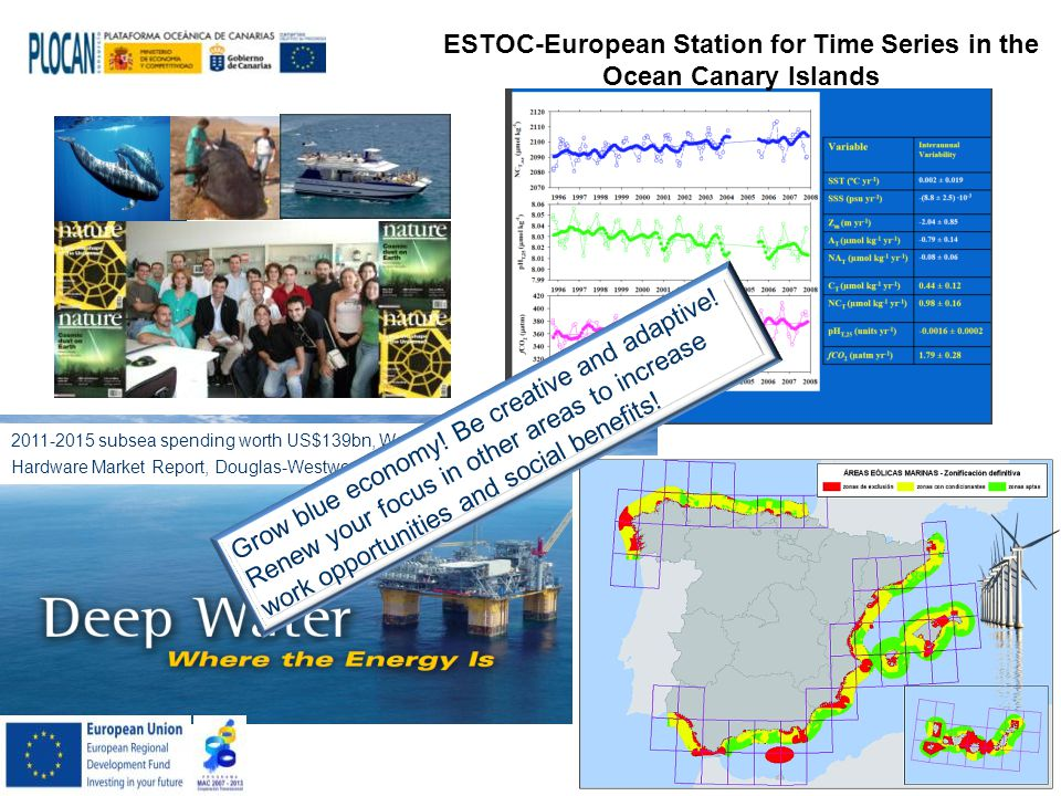 ESTOC-European Station for Time Series in the Ocean Canary Islands 2011-2015 subsea spending worth US$139bn, World Subsea Hardware Market Report, Douglas-Westwood.