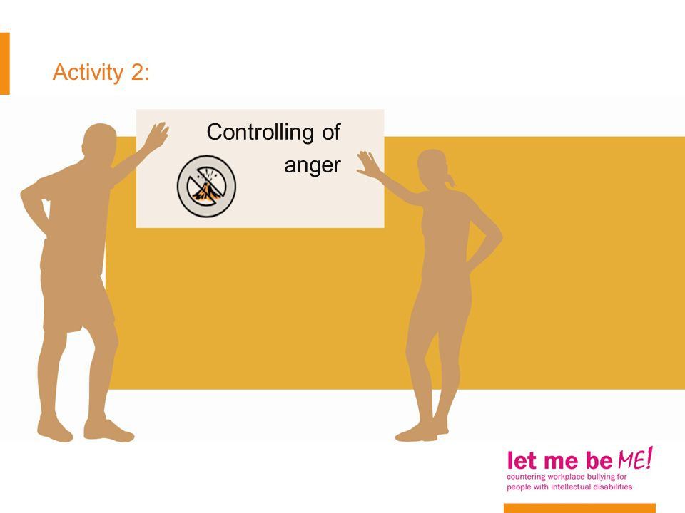 Activity 2: Controlling of anger