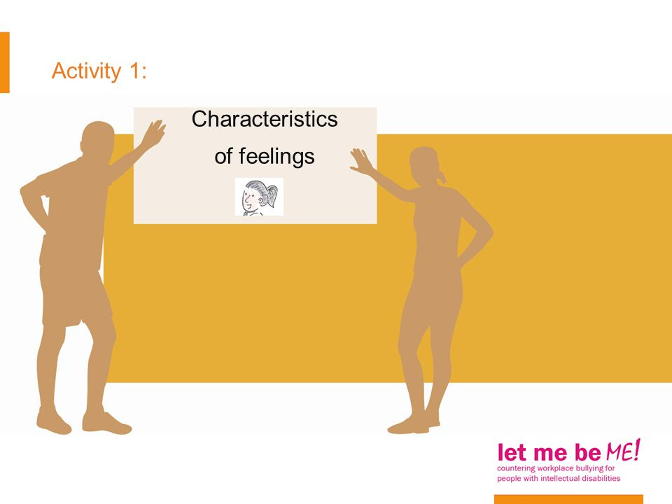Activity 1: Characteristics of feelings