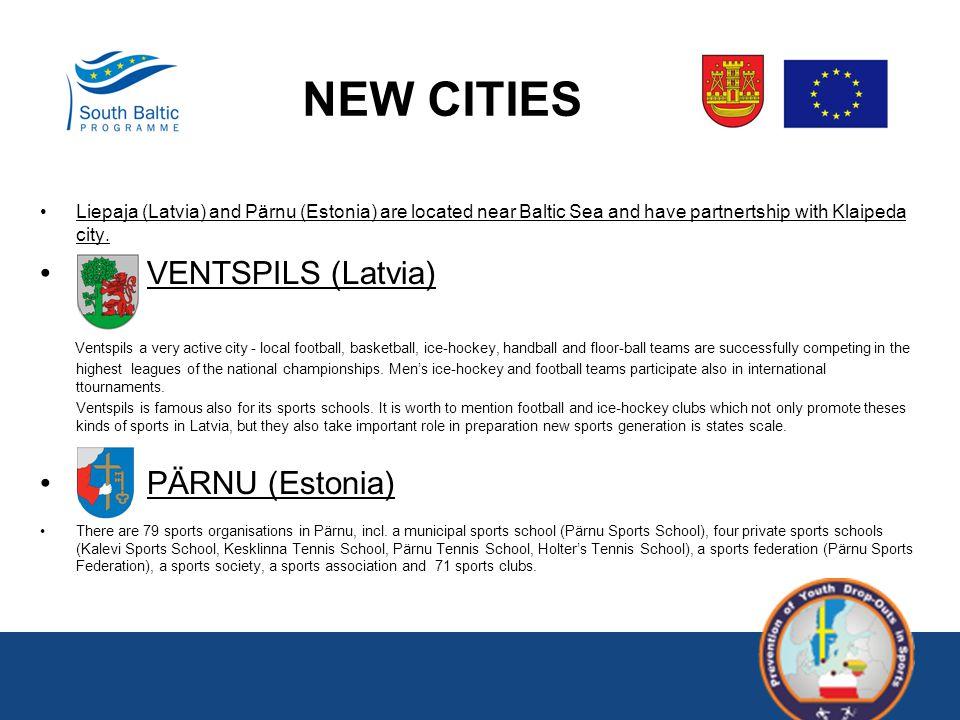 NEW CITIES Liepaja (Latvia) and Pärnu (Estonia) are located near Baltic Sea and have partnertship with Klaipeda city.