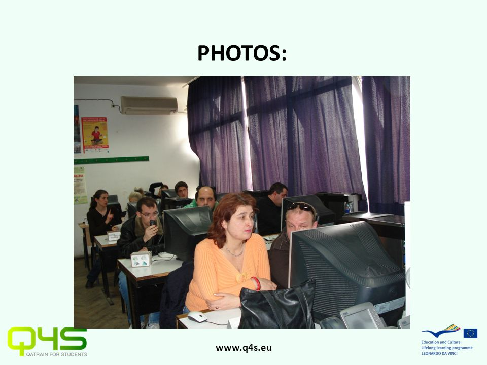 www.q4s.eu PHOTOS: