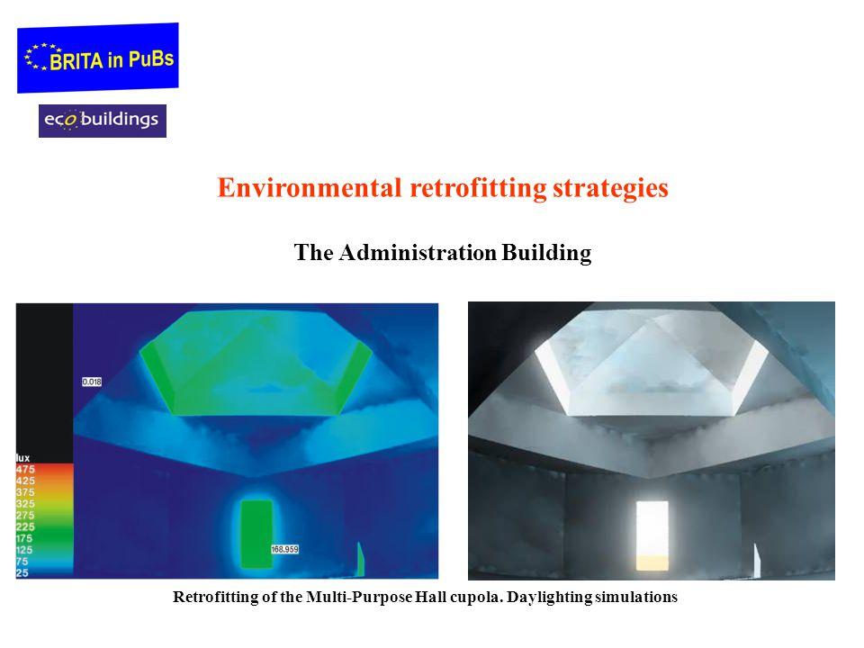 Environmental retrofitting strategies The Administration Building Retrofitting of the Multi-Purpose Hall cupola. Daylighting simulations