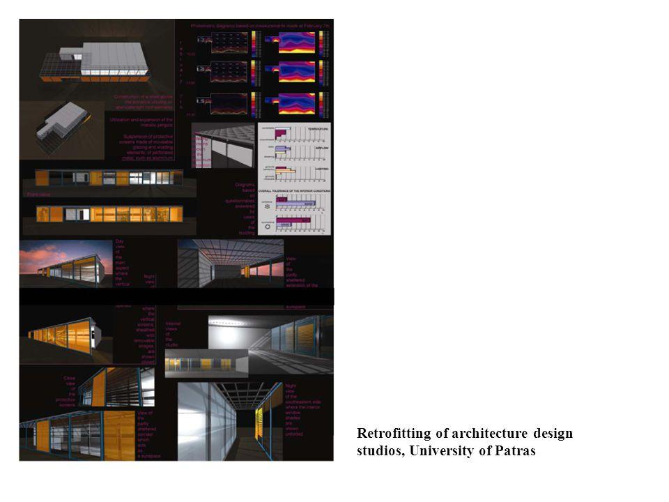 Retrofitting of architecture design studios, University of Patras
