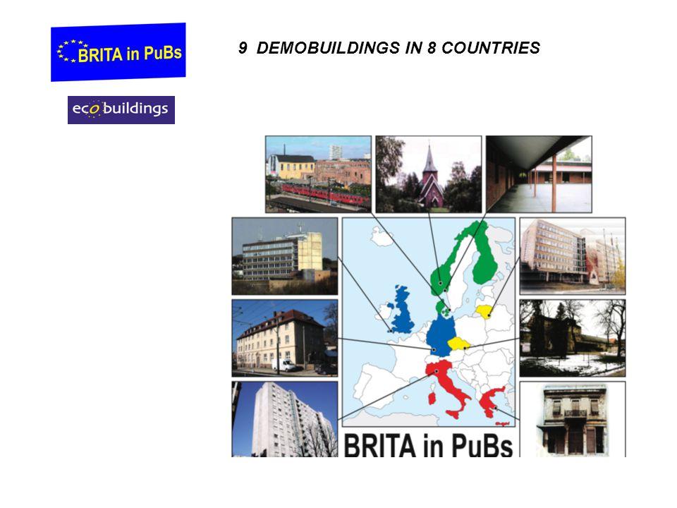 9 DEMOBUILDINGS IN 8 COUNTRIES