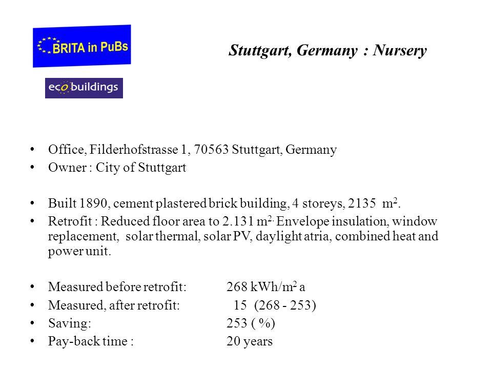 Stuttgart, Germany : Nursery Office, Filderhofstrasse 1, 70563 Stuttgart, Germany Owner : City of Stuttgart Built 1890, cement plastered brick buildin