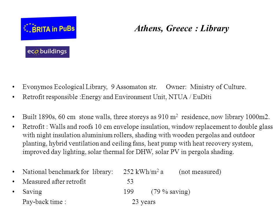 Athens, Greece : Library Evonymos Ecological Library, 9 Assomaton str.