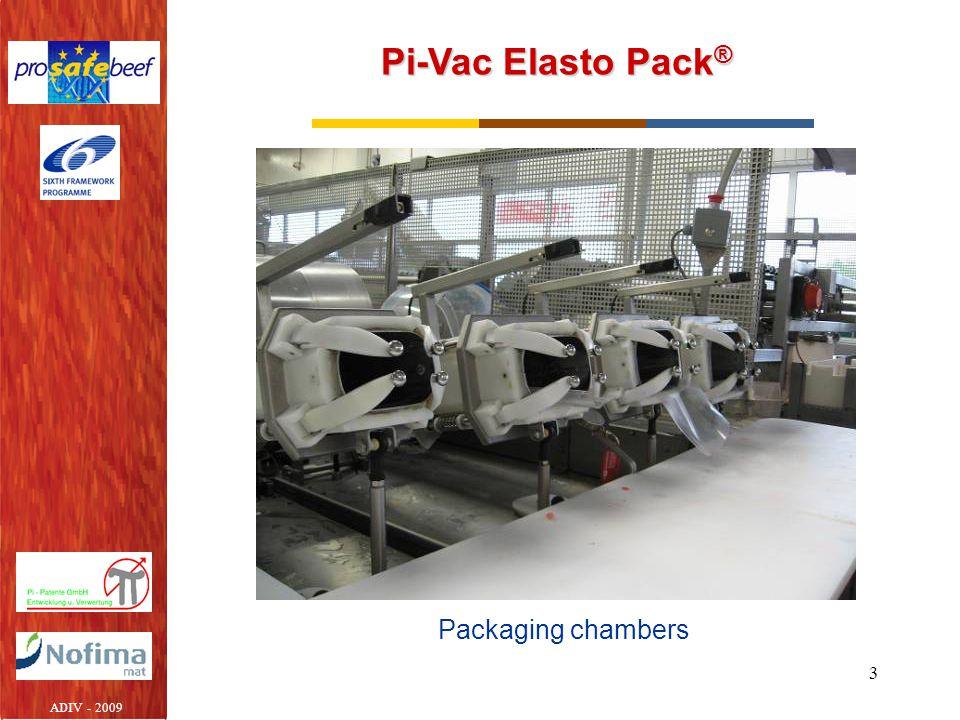 3 Pi-Vac Elasto Pack ® Packaging chambers ADIV - 2009