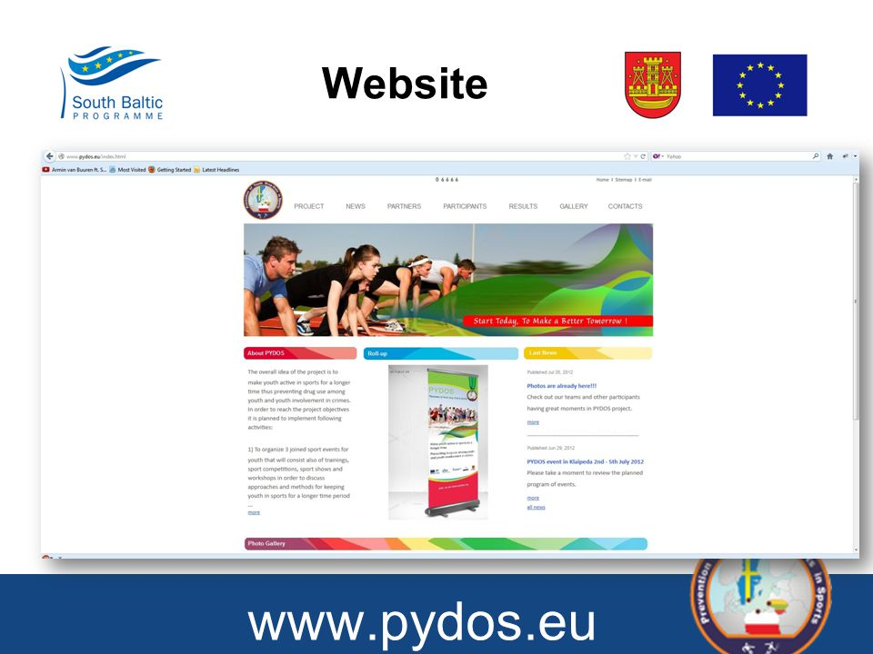 Website www.pydos.eu