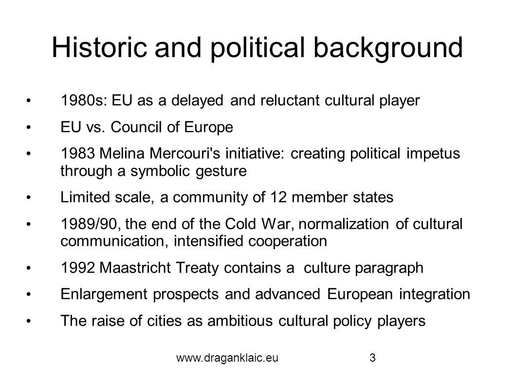 www.draganklaic.eu4 What they have achieved 1985 Athens 1986 Florence 1987 Amsterdam 1988 West Berlin 1989 Paris 1990 Glasgow 1991 Dublin 1992 Madrid 1993 Antwerp 1994 Lisbon 1995 Luxemburg 1996 Copenhagen.
