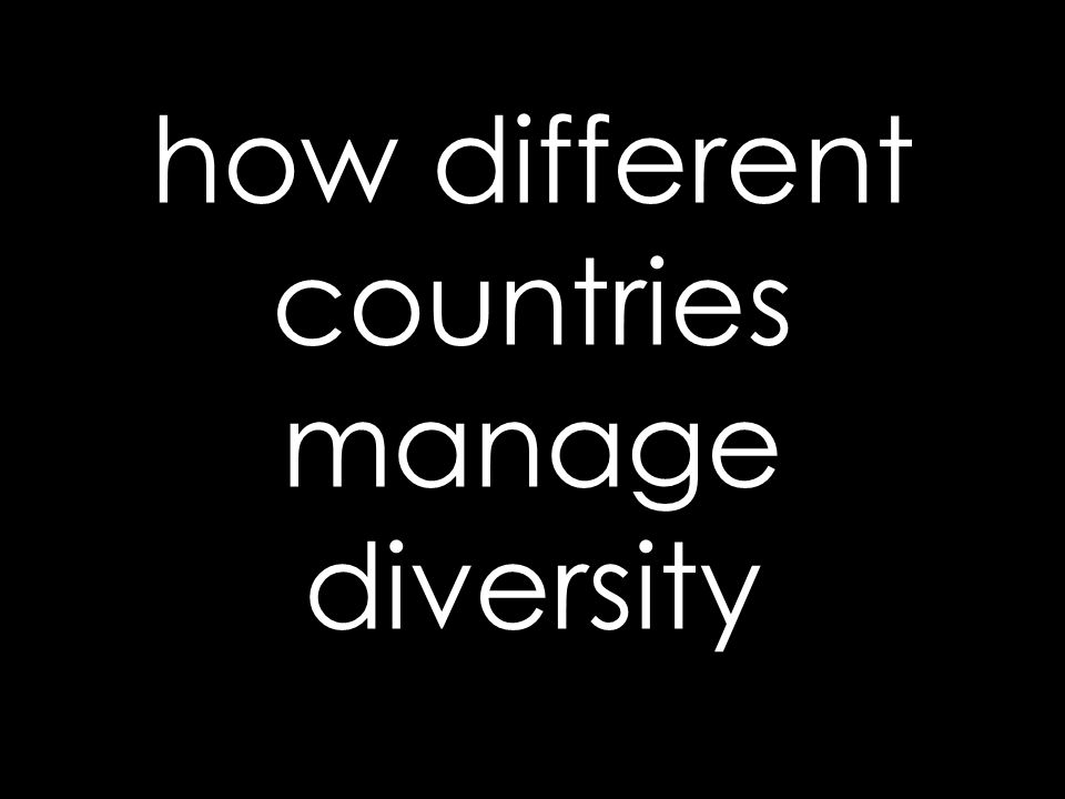 how different countries manage diversity