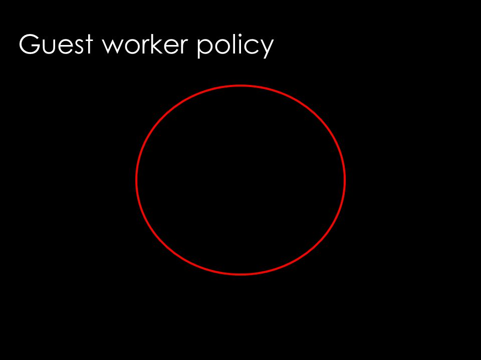 Guest worker policy