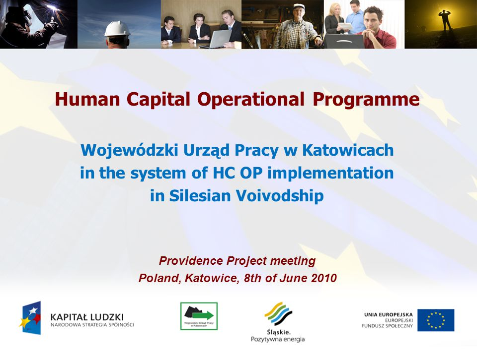 Priority I – Employment and social integration Priority II - Development of human resources and adaptation potential of enterprises and improvement in the health condition of working persons Priority III - High quality of the education system Priority IV - Higher education and science Priority VII - Promotion of social integration Priority VIII - Regional human resources of the economy Priority X - Technical Assistance Priority IX - Development of education and competencies in the regions Priority VI - The labour market open for all Central and regional component in HC OP central component regional component Priority V - Good governance