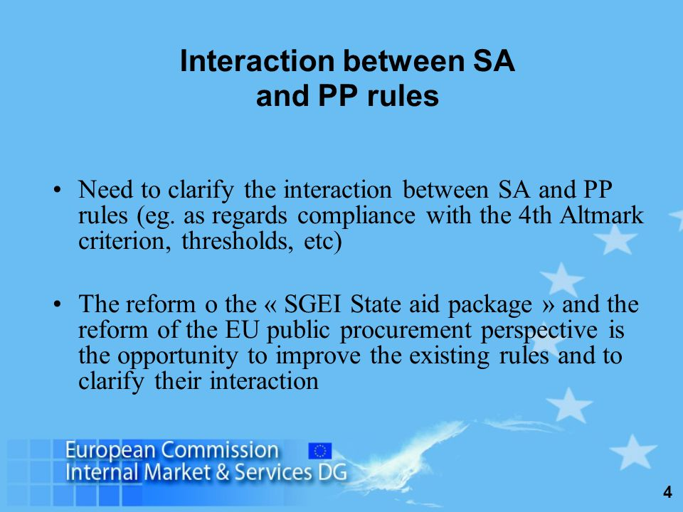 4 Interaction between SA and PP rules Need to clarify the interaction between SA and PP rules (eg.