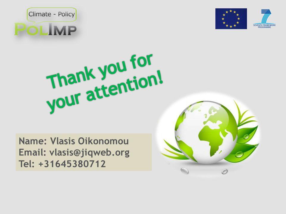 Name: Vlasis Oikonomou Email: vlasis@jiqweb.org Tel: +31645380712