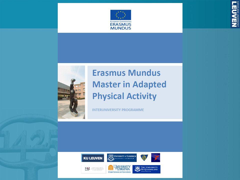The Erasmus Mundus Master in APA (EMMAPA) is a co- operative program organized by 4 European Universities: KU Leuven, U of Limerick, Palacky University Olomouc, and the Norwegian School of Sport Sciences.
