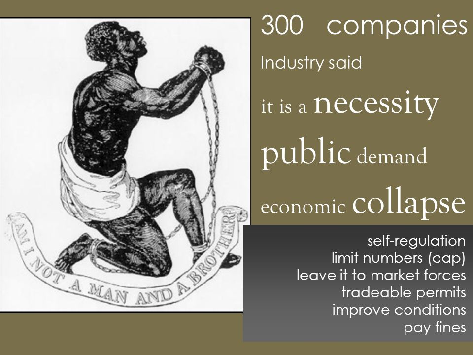 3000 companies Industry said it is a necessity public demand economic collapse self-regulation limit numbers (cap) leave it to market forces tradeable