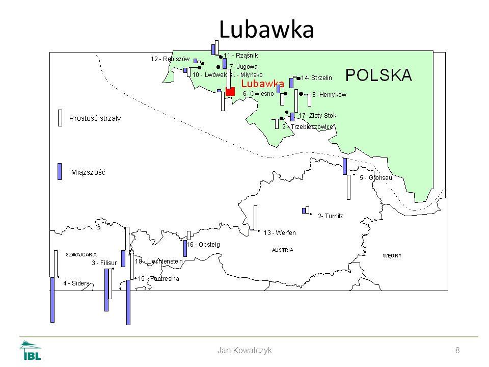 9 Larch IBL 1967 series Jan Kowalczyk Volume Stem straitens 1 – Myślibórz11 – Skarżysko19 – Pilica 2 – Pelplin12 – Bliżyn20 – Prószków 4 – Konst.