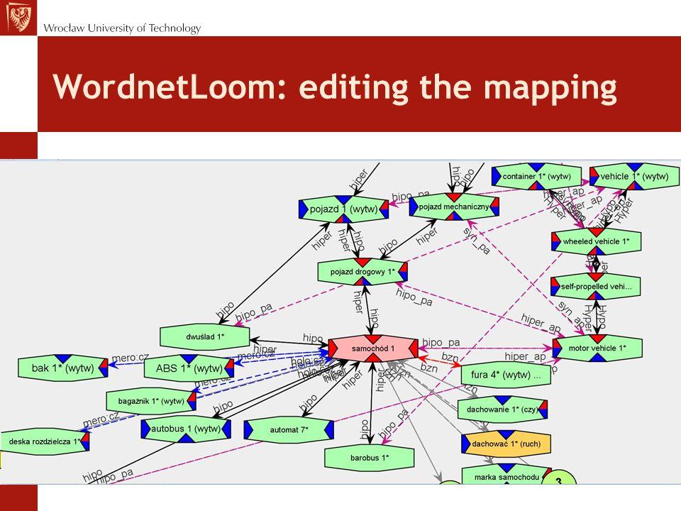 WordnetLoom: editing the mapping