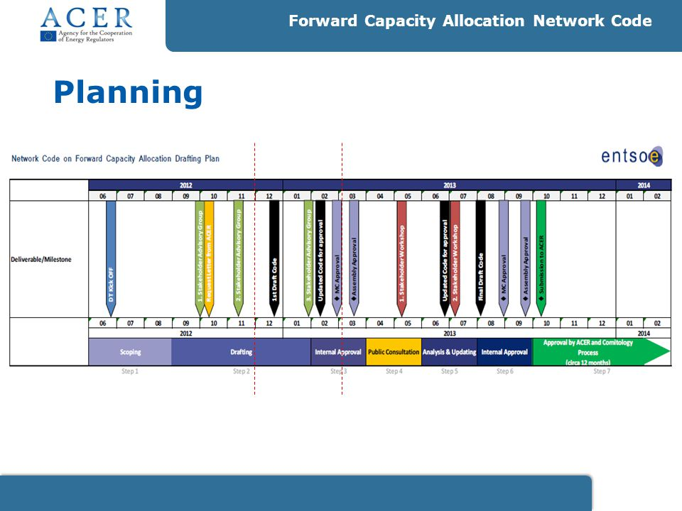 Planning Forward Capacity Allocation Network Code