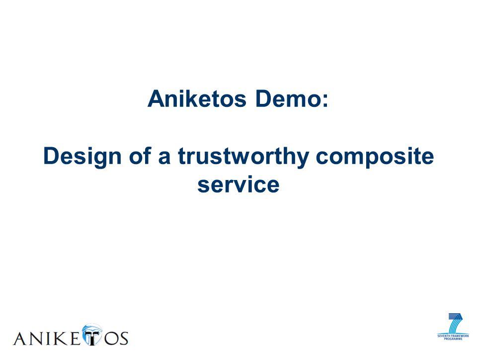 Aniketos Demo: Design of a trustworthy composite service