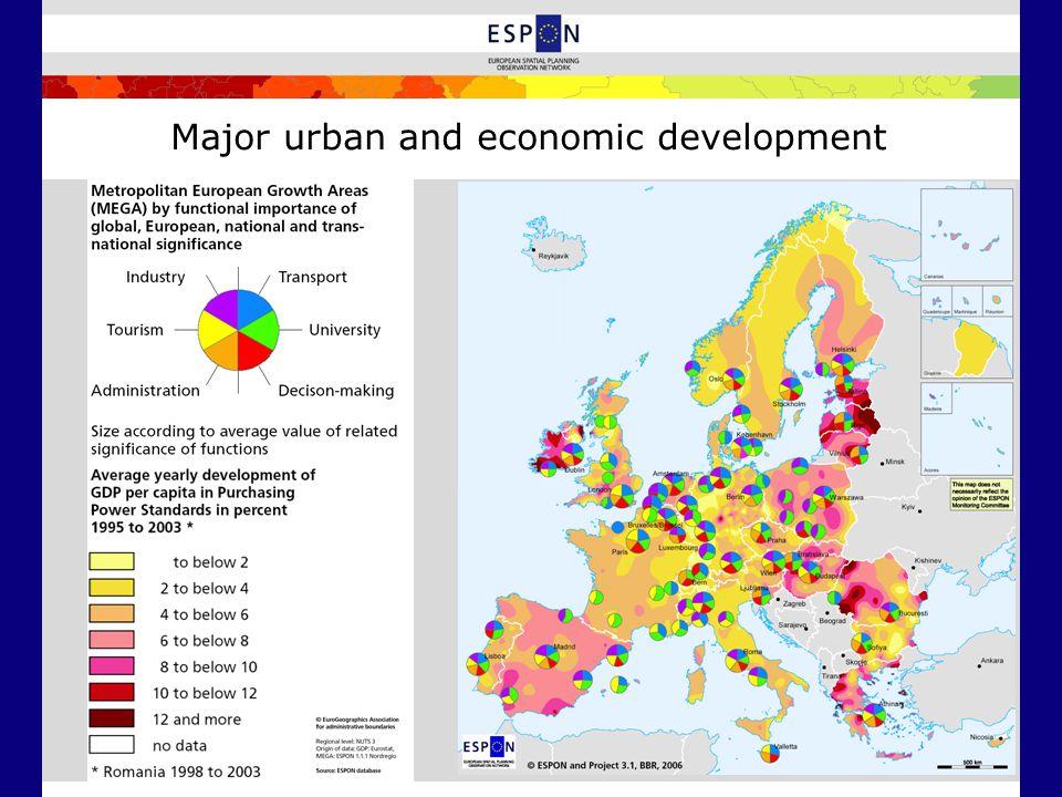 Major urban and economic development