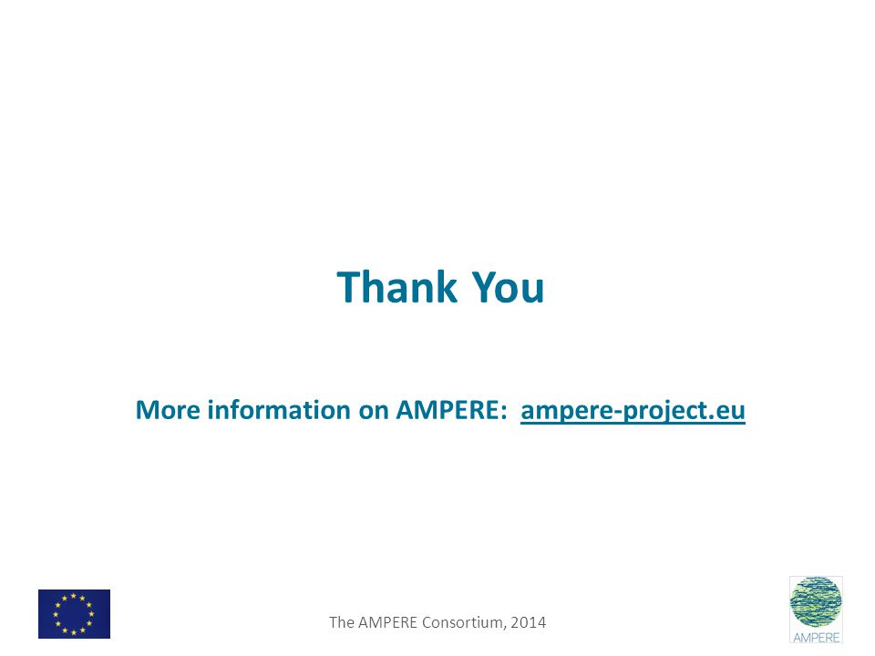 Thank You More information on AMPERE: ampere-project.eu The AMPERE Consortium, 2014