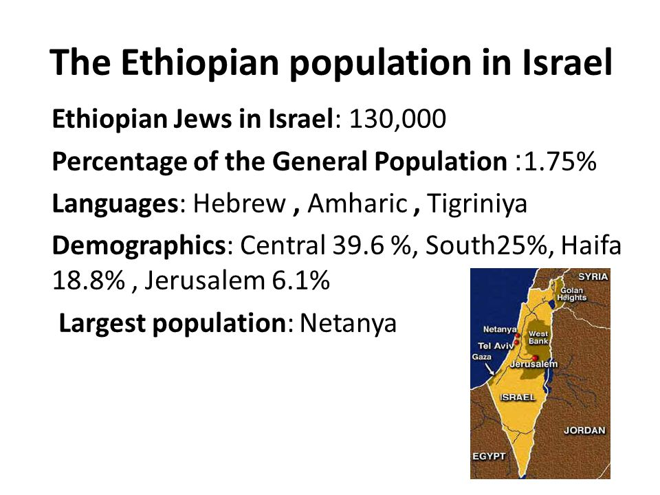 38% of Ethiopian women, ages 25 - 54 are in the labor market, 68% of other Israeli women of the same age group.