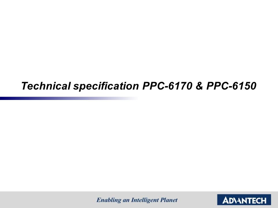 Technical specification PPC-6170 & PPC-6150