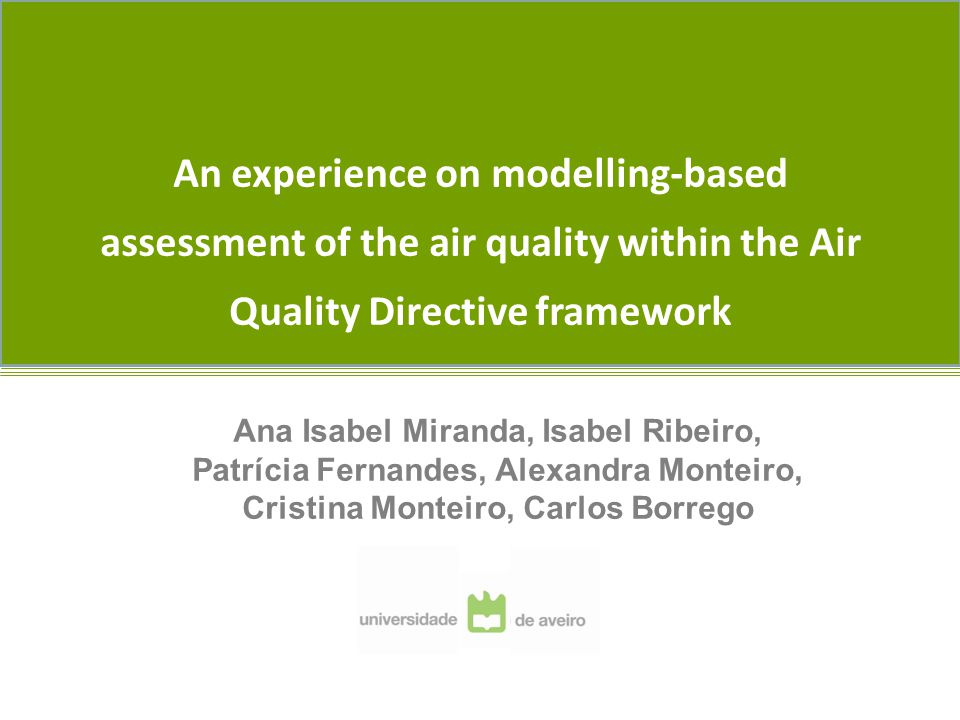 Notwithstanding this modelling work no modelling-based report to the Comission was delivered.