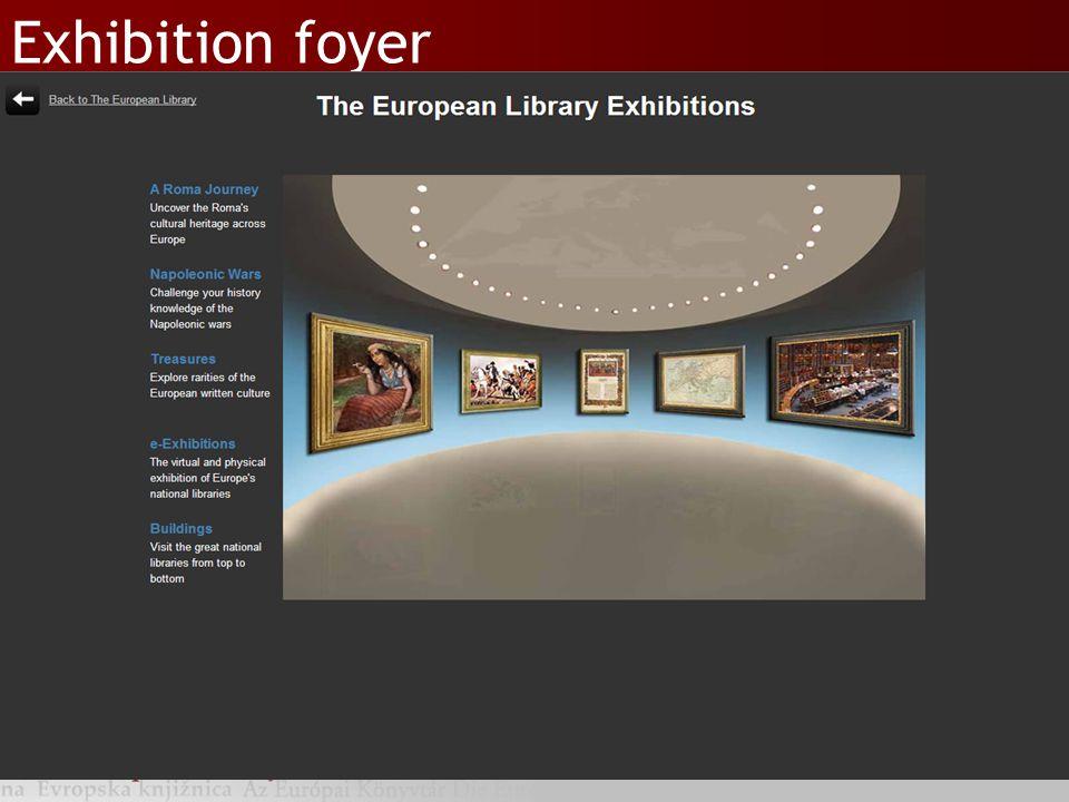 Exhibition foyer