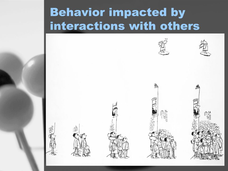 Behavior impacted by interactions with others