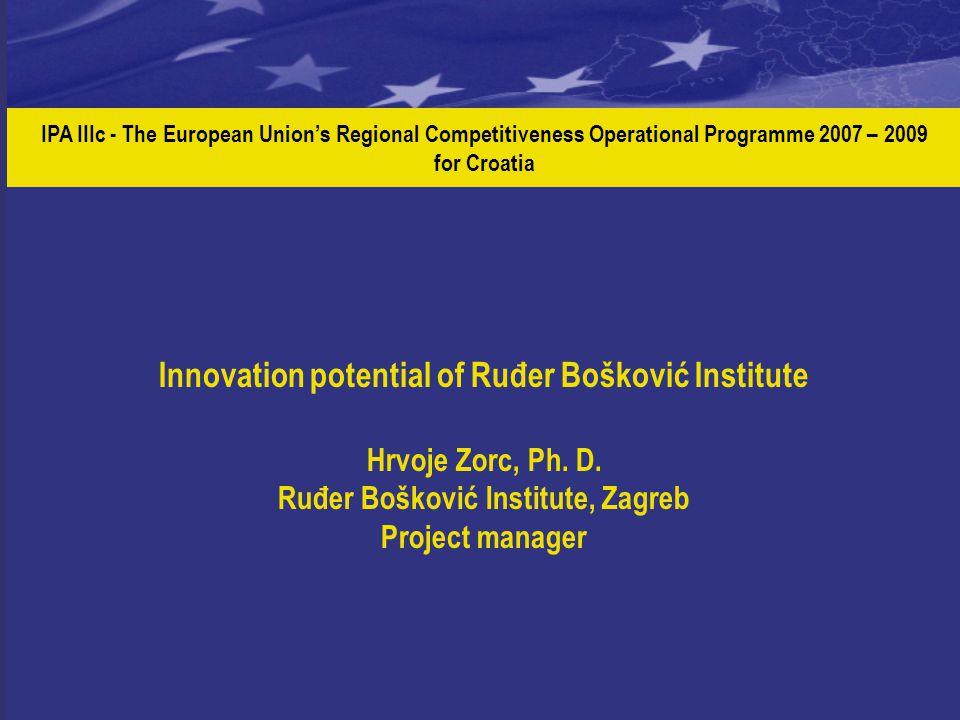 IPA IIIc - The European Union's Regional Competitiveness Operational Programme 2007 – 2009 for Croatia Innovation potential of Ruđer Bošković Institut