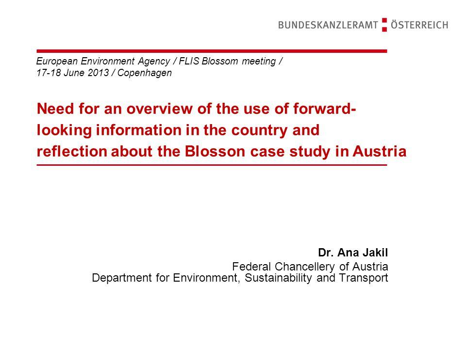 European Environment Agency / FLIS Blossom meeting / 17-18 June 2013 / Copenhagen Dr.