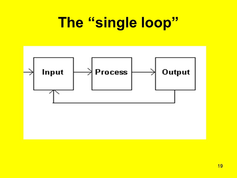"19 The ""single loop"""