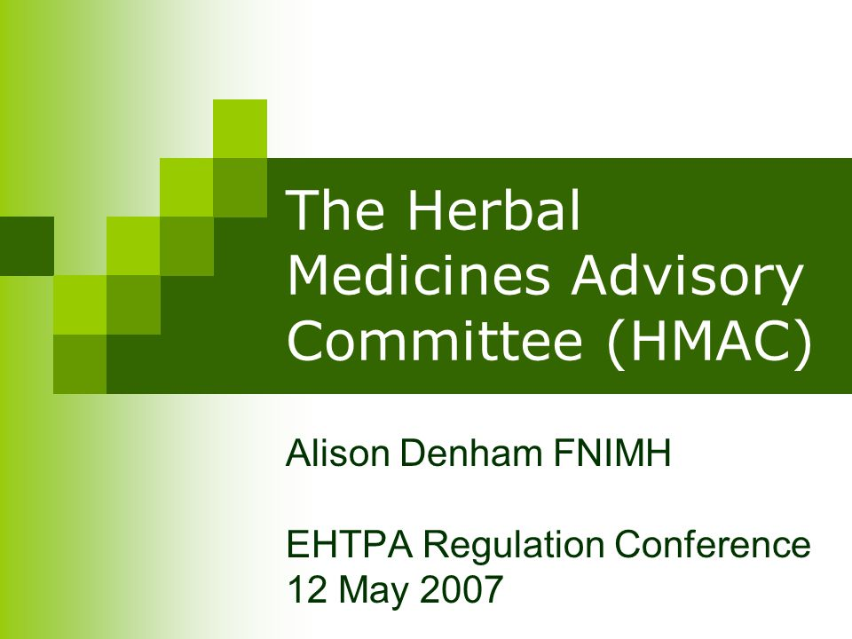 The Herbal Medicines Advisory Committee What is it.