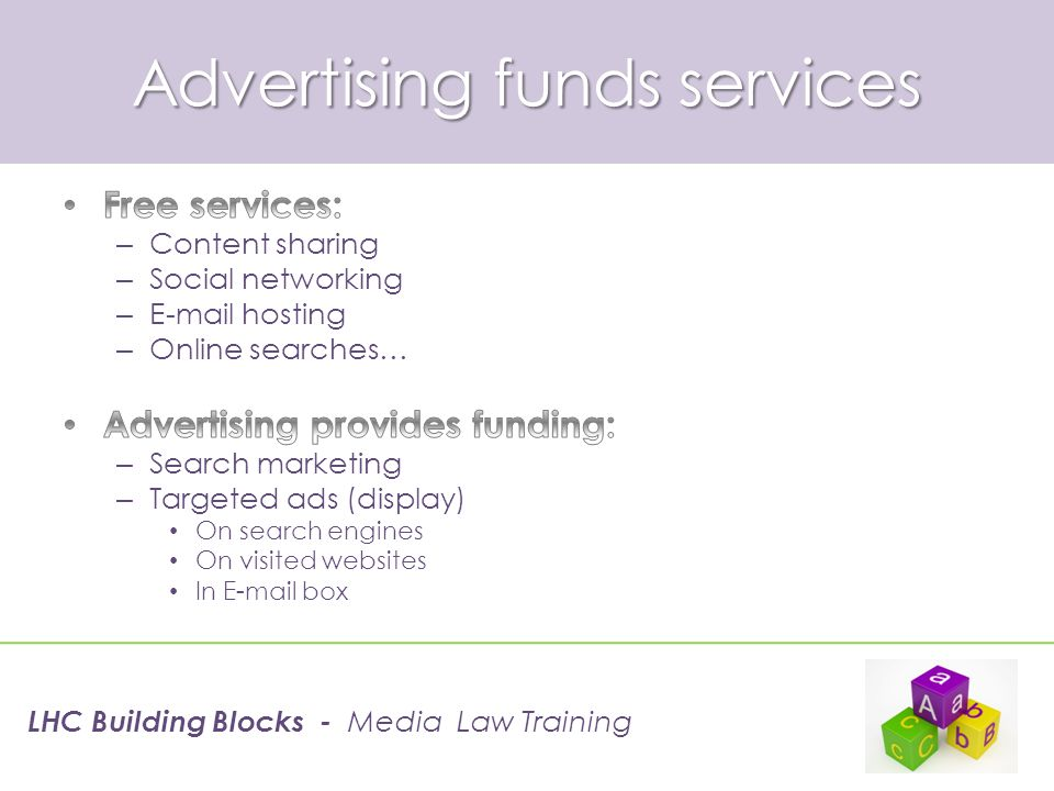 Search marketing income LHC Building Blocks - Media Law Training
