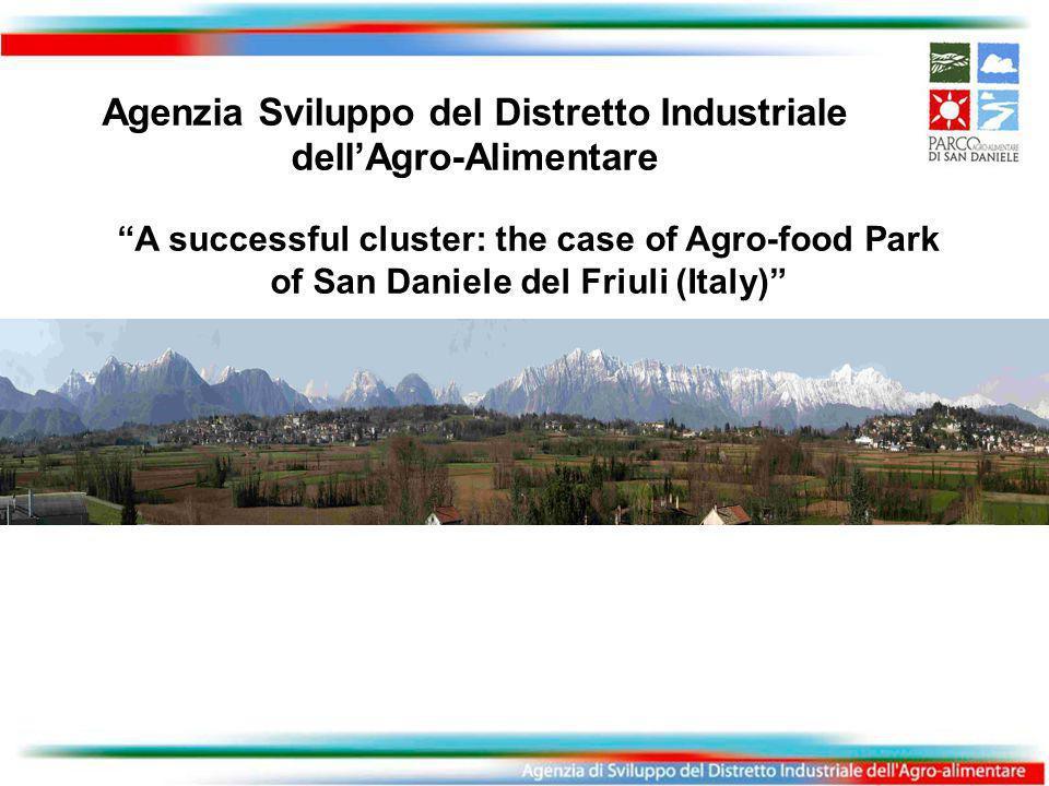 A successful cluster: the case of Agro-food Park of San Daniele del Friuli (Italy) Agenzia Sviluppo del Distretto Industriale dell'Agro-Alimentare