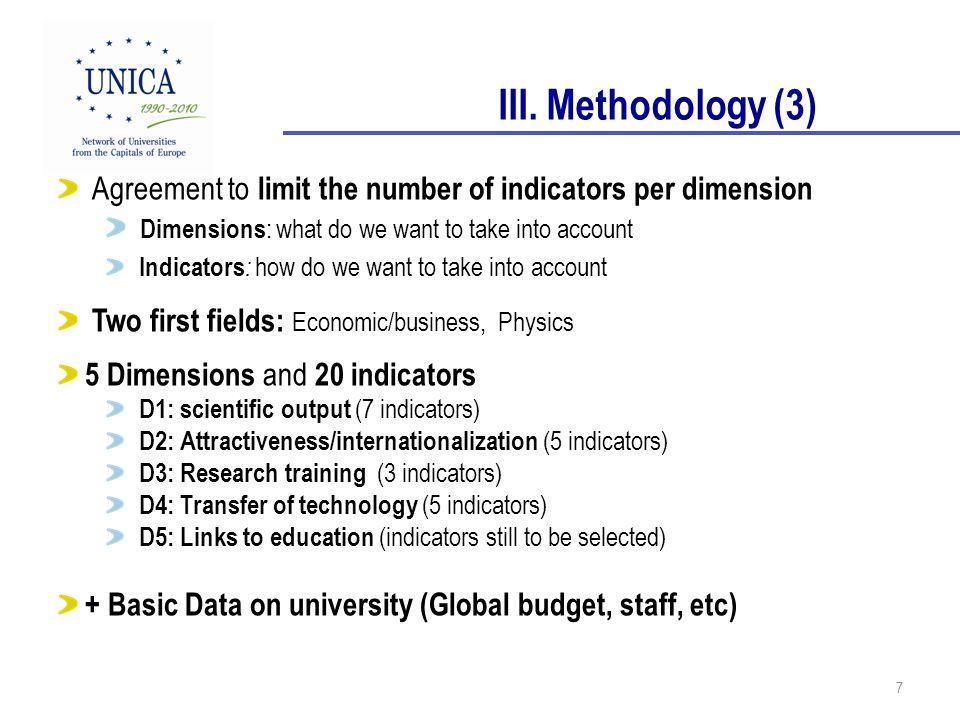 8 DIMENSION 1: SCIENTIFIC OUTPUT 1.Publications in Scopus, WoF 2.