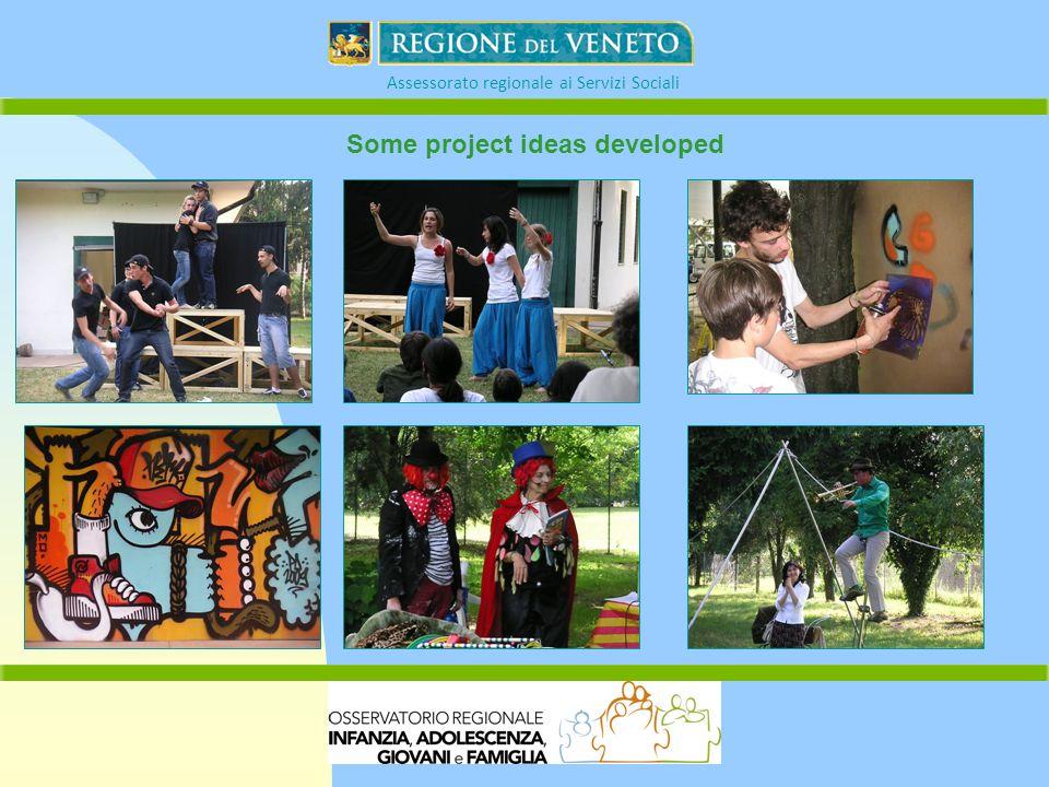 Assessorato regionale ai Servizi Sociali Some project ideas developed