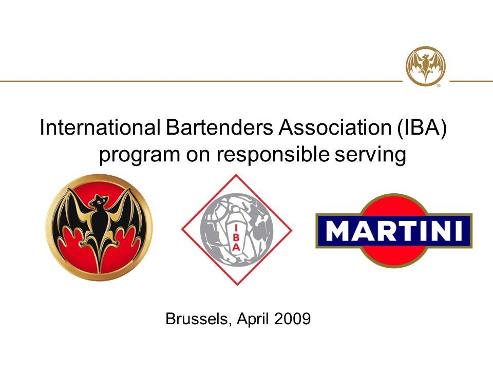 International Bartenders Association (IBA) program on responsible serving Brussels, April 2009