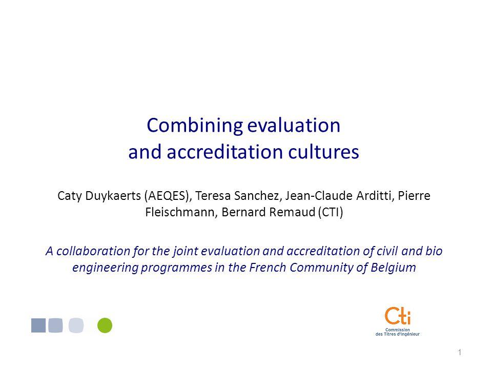 2 I.Institutional background 1. AEQES 2. CTI II. Origin ans scope of the collaboration III.