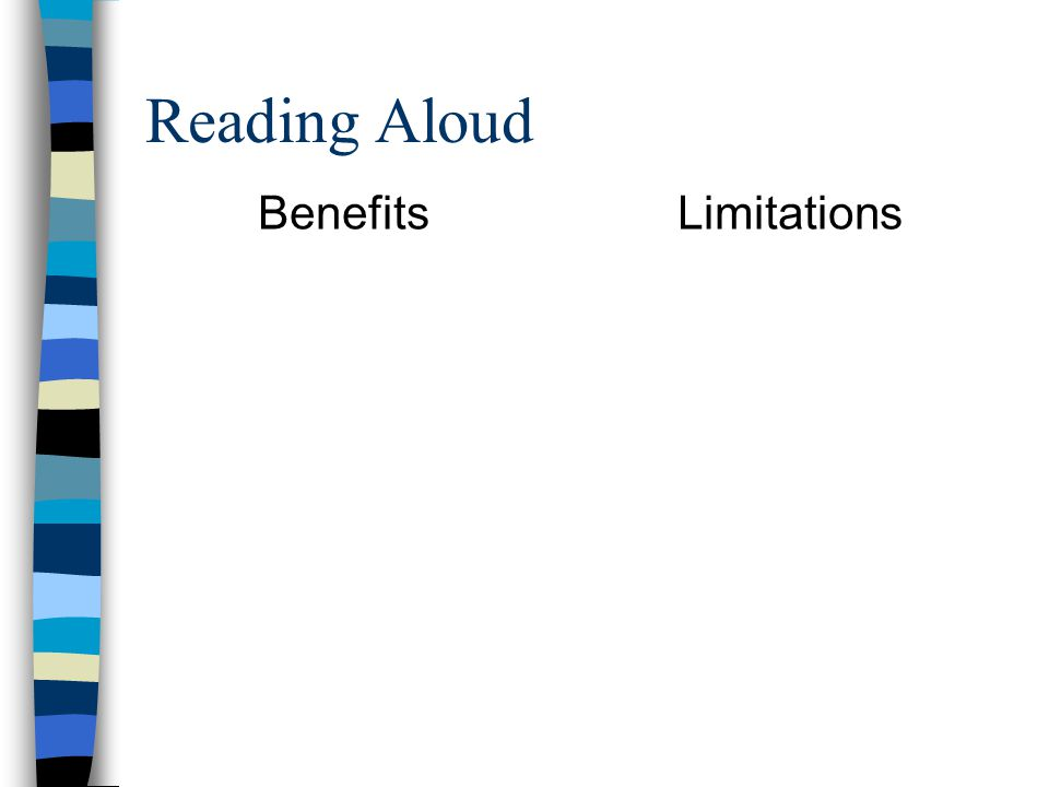 Reading Aloud BenefitsLimitations