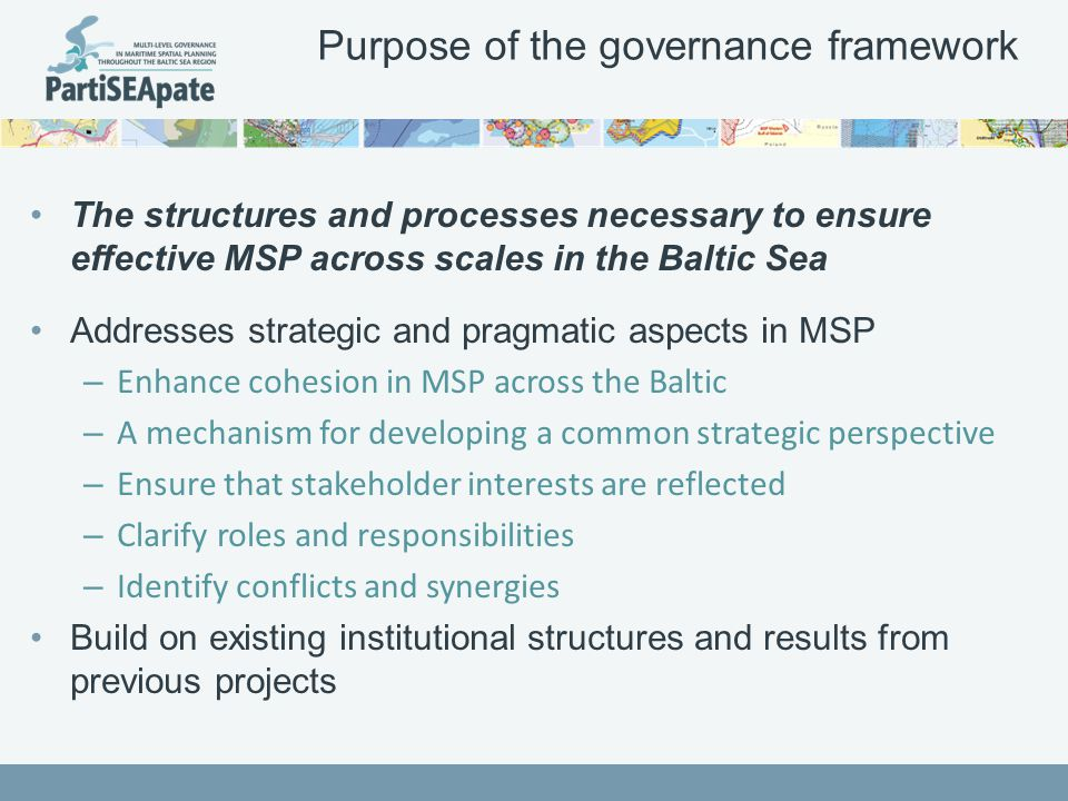 3. Organisation and representation in a pan- Baltic MSP dialogue