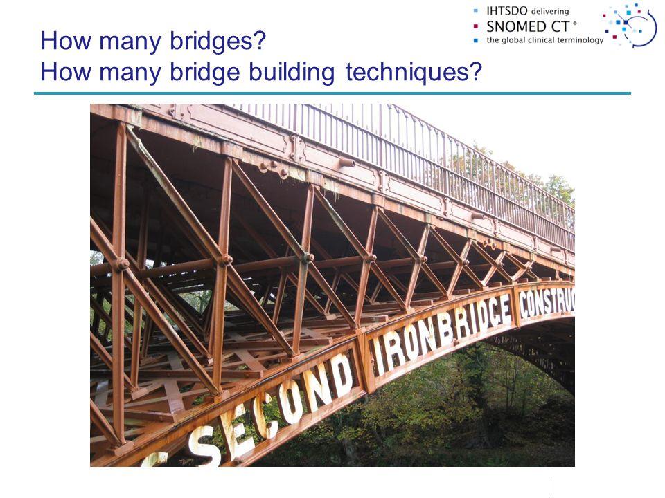 How many bridges? How many bridge building techniques?