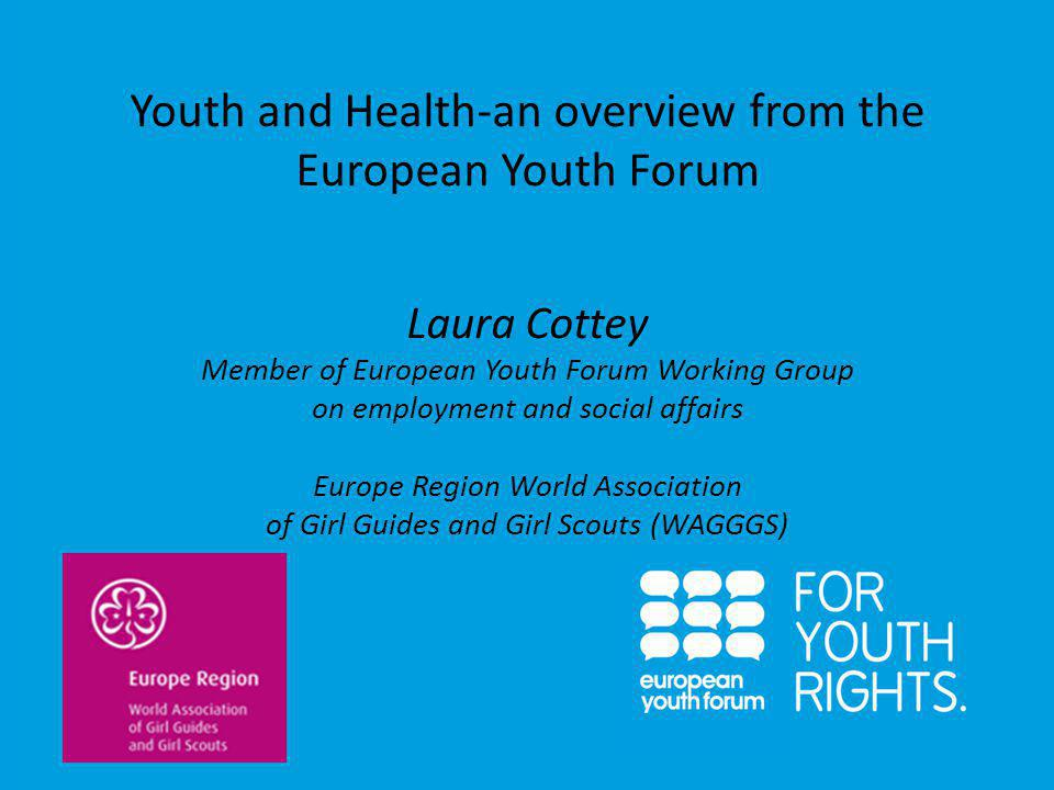 Youth organisations can: Provide young people with appropriate education, information and skills to enable informed and responsible health choices Enable young people to become involved in all decision- making and policy processes which determine the nature of information and services provided for them Enable young people to talk openly about health issues which are important to them with their peers and in a safe environment; Reach out to other sections of the community eg parents, schools, etc to raise awareness about health issues