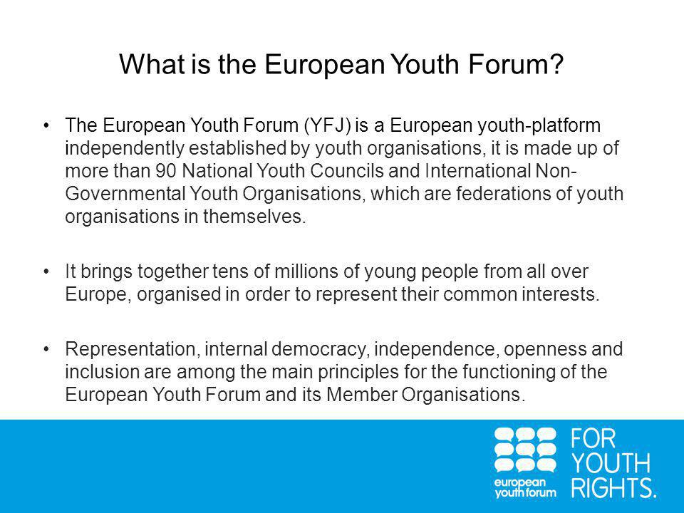 What is the European Youth Forum.